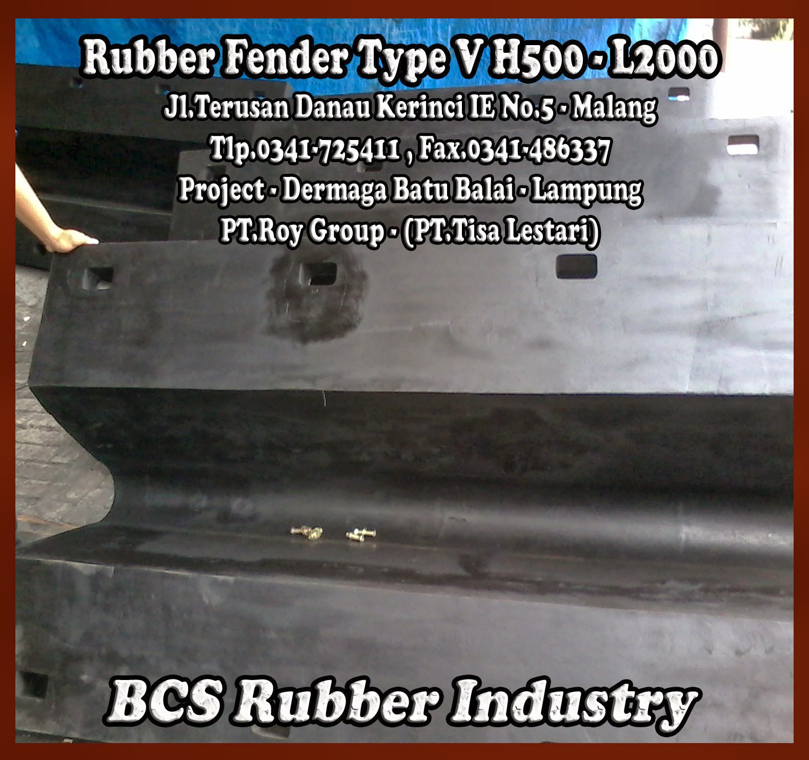 Rubber Fender V - Rubber Fender Arch - BCS Rubber Industry Malang