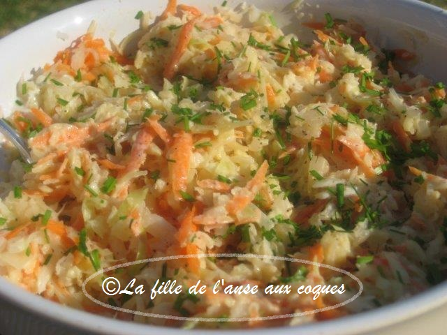 La fille de l 39 anse aux coques salade de chou cr meuse 4 for Utilite du vinaigre blanc