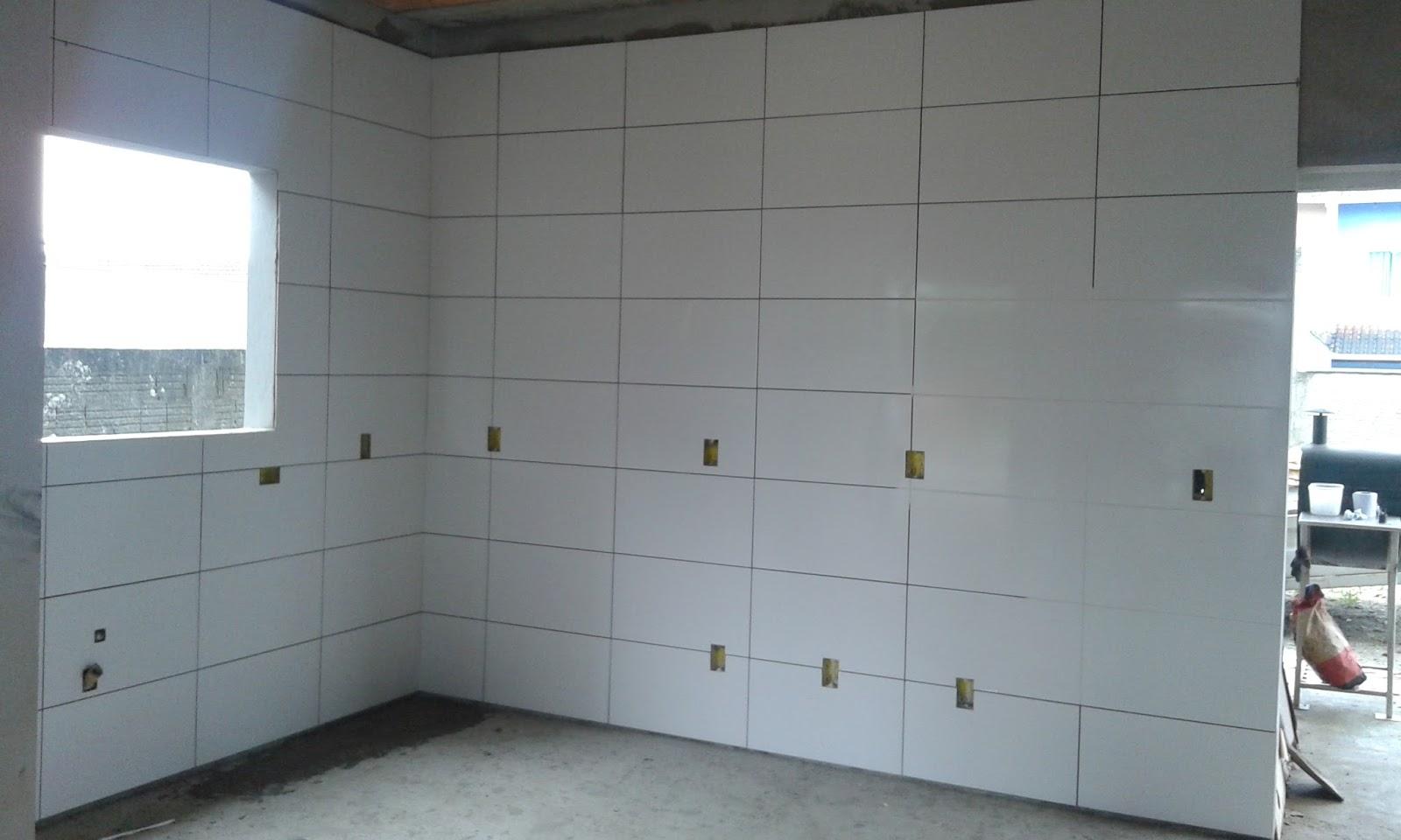M os a obra constru o da nossa casa atualiza o da obra for Azulejo de porcelanato