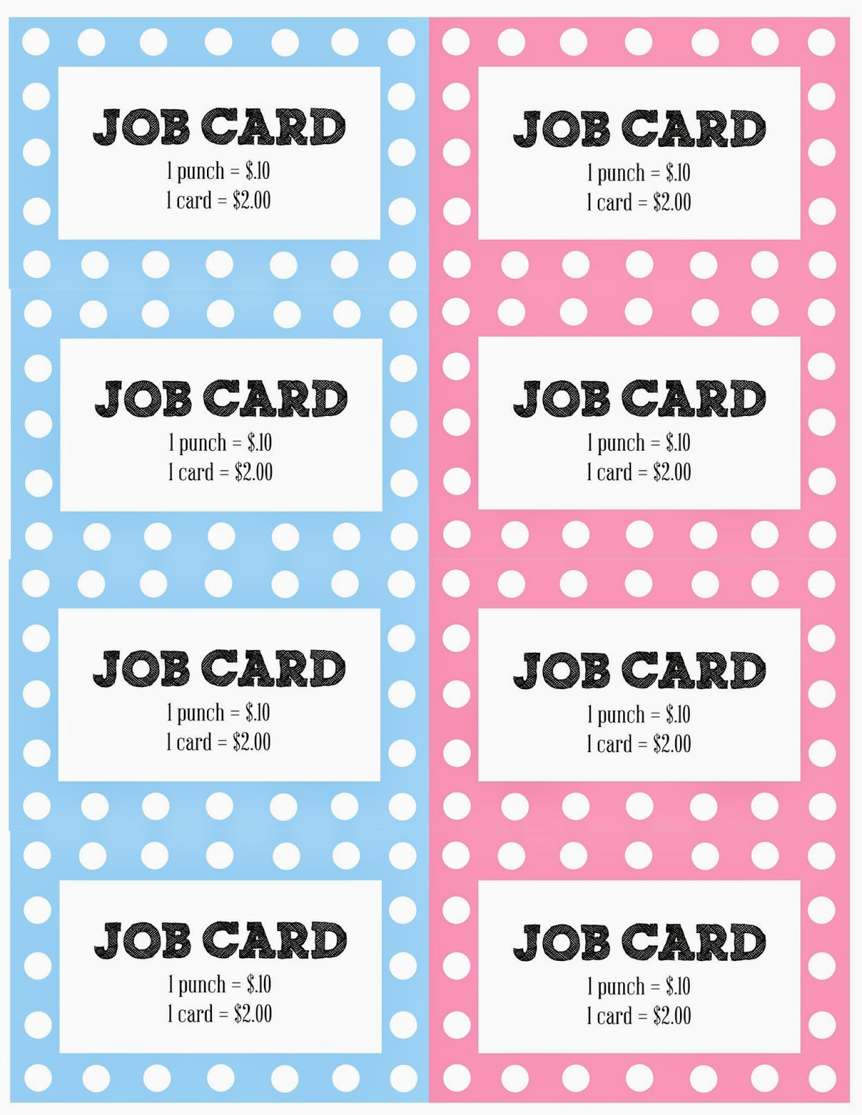 job punch card