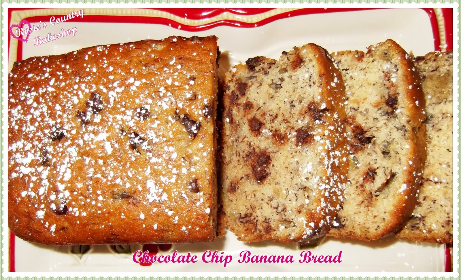 Rosies country baking banana bread with chocolate chips or pecans 4 overripe bananas 1 cup sugar 1 12 sticks unsalted butter melted and cooled 2 large eggs 1 tsp pure vanilla extract 12 cup semisweet chocolate chips or forumfinder Gallery