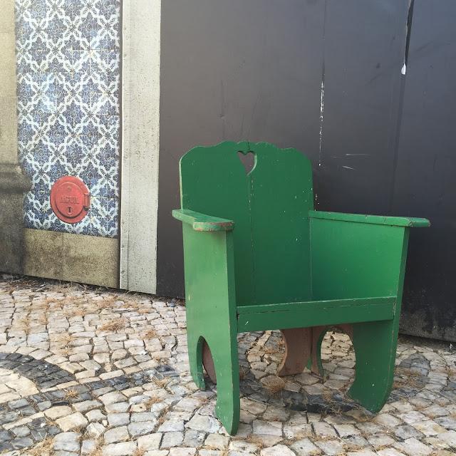 cadeira, anos 50, terraço, vintage