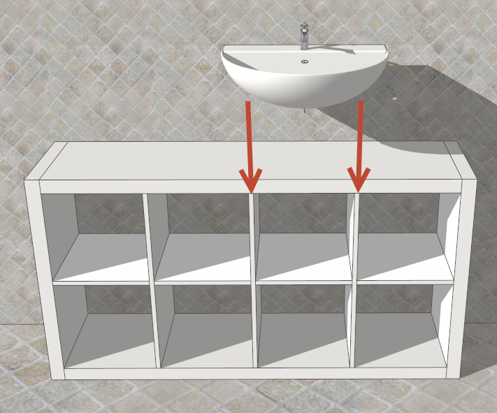 faidate con sketchup mobile per il bagno facile bello ed economico. Black Bedroom Furniture Sets. Home Design Ideas