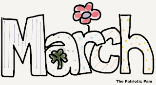 Clip Art Picture of March