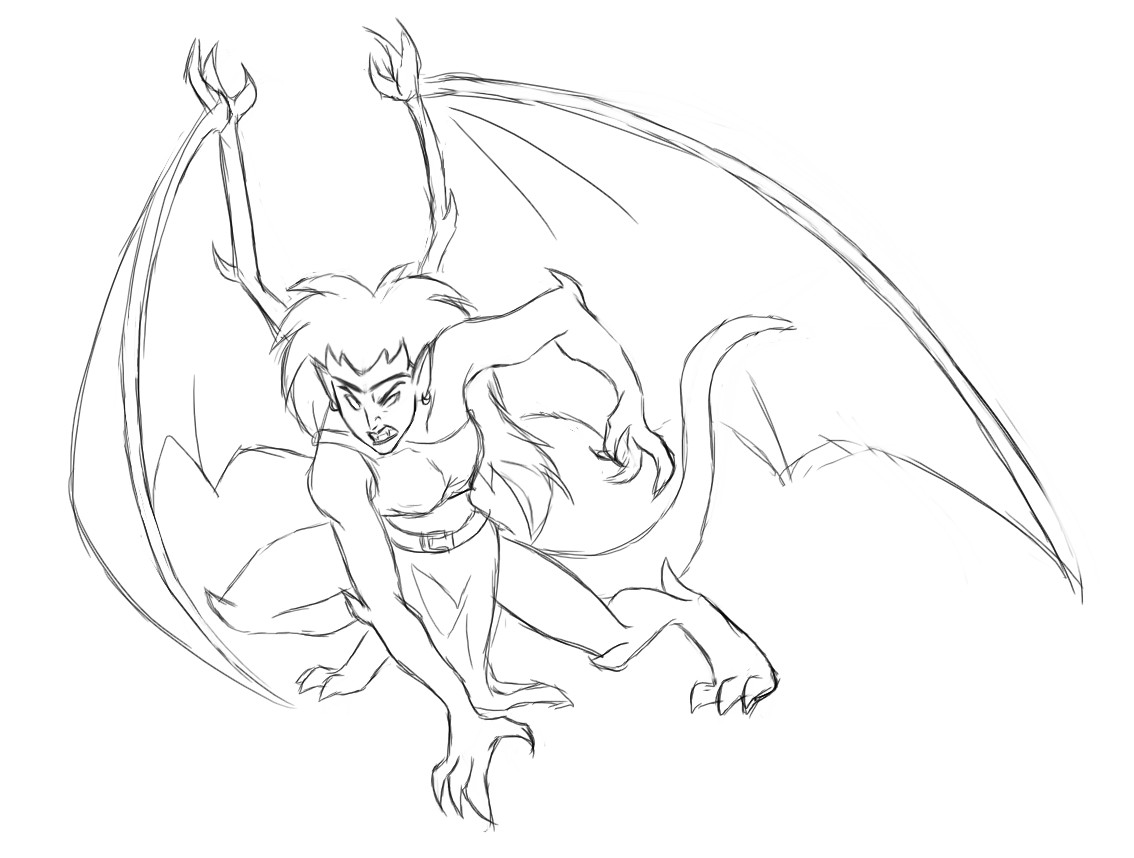 gargoyles coloring pages - photo#1
