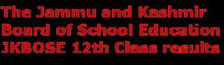 JKBOSE 12th Class results