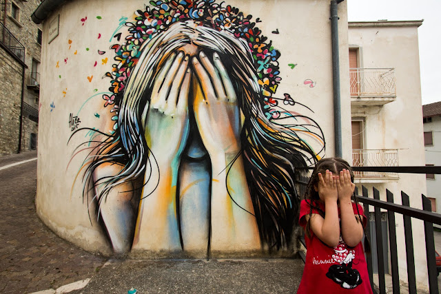 Alice recently spent some time and painted a series of new pieces in the city of Civitacampomarano,  a comune in the Province of Campobasso in the Italian region Molise, located about 25 kilometres north of Campobasso.