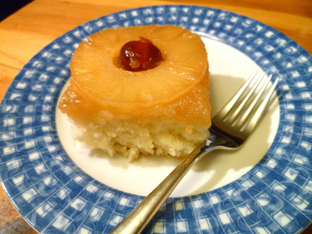 slice of cake - Pineapple Upside Down Cake