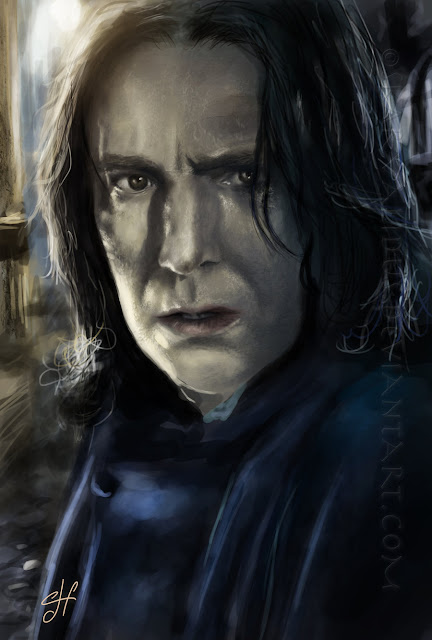 Harry potter Severus Snape digital Art  paintings