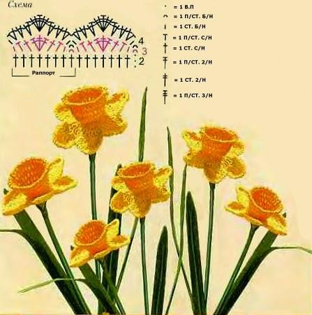 flor vaso crochê