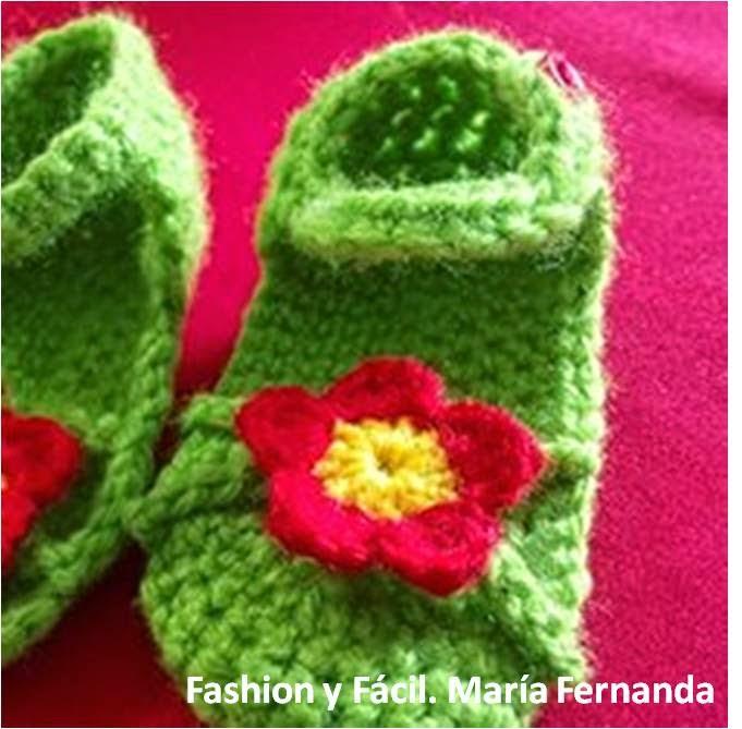 Fashion y Fácil : Cómo tejer unos zapatitos-sandalias para bebé a ...