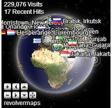 Cara memasang widget pengunjung Revolvermaps ke blog/website