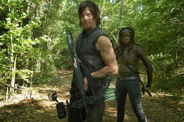 Daryl y Michonne en The Walking Dead 4x03 - Isolation