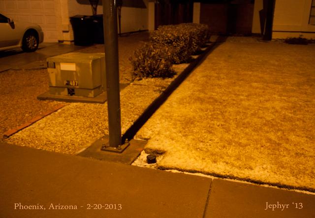 2013 Snow in Phoenix Arizona - Image by Jephyr