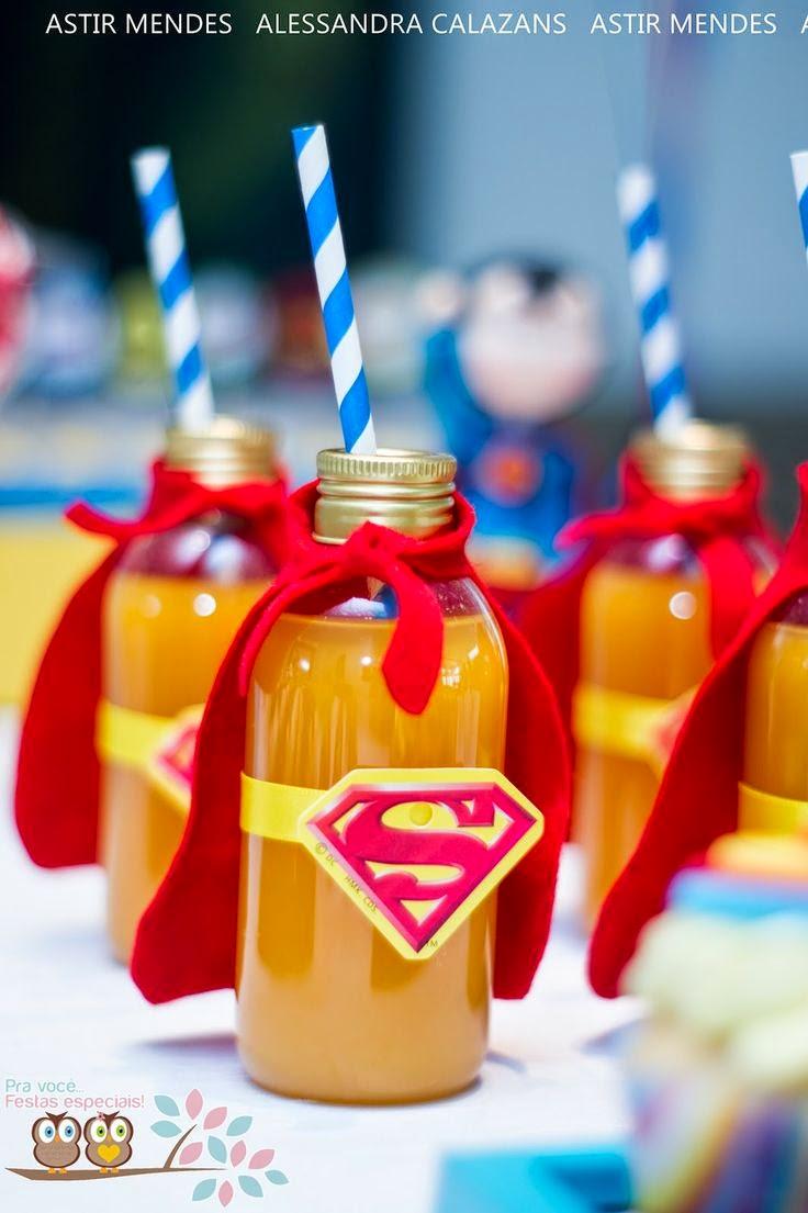 20 ideias criativas para mesas de festas infantis amando for Best drinks to have at a party