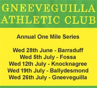 One Mile Race Series in Kerry...Every Wed at 8pm