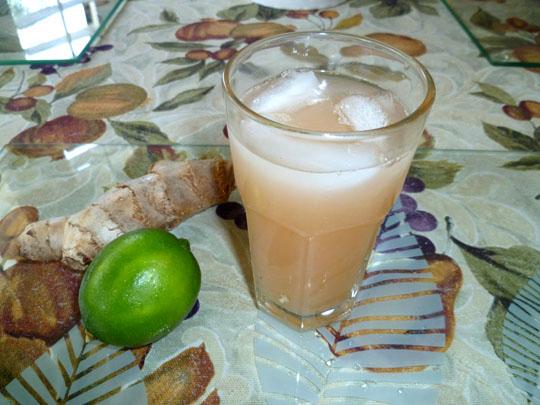 LEMON CHIFFON CAKE: Grapefruit, Lime and Ginger Juice
