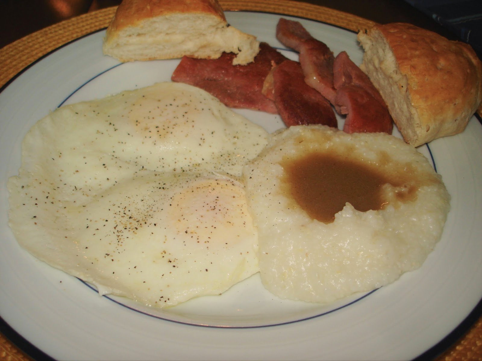 ham with red eye gravy and grits recipe saveur ham steaks with red eye ...