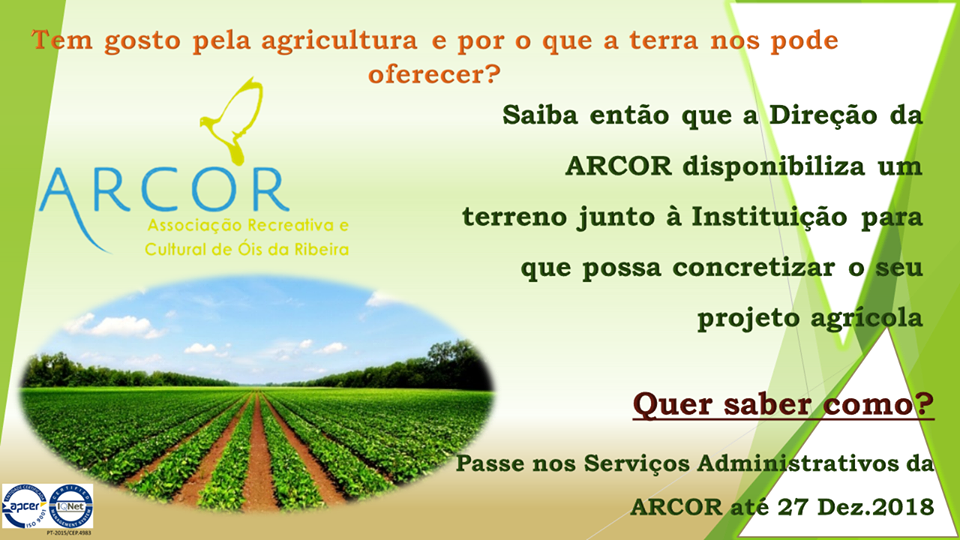 ARCOR arrenda quintal do centro social