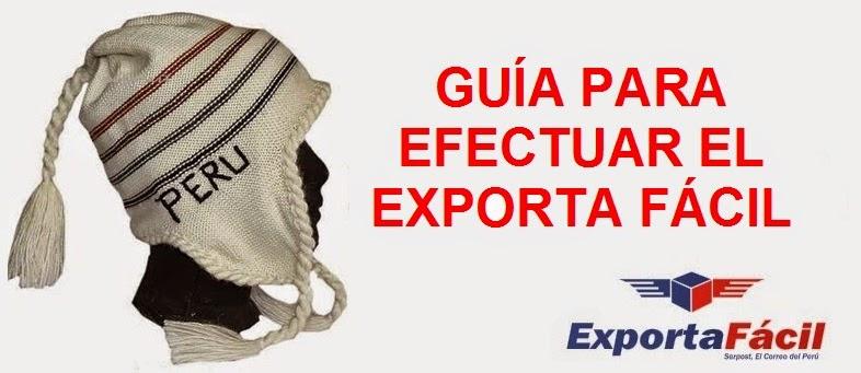 consideraciones generales para utilizar el exporta facil