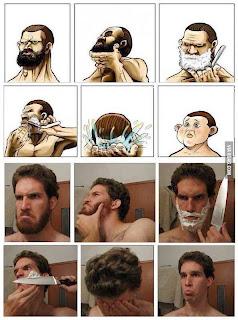 Despues de afeitarse