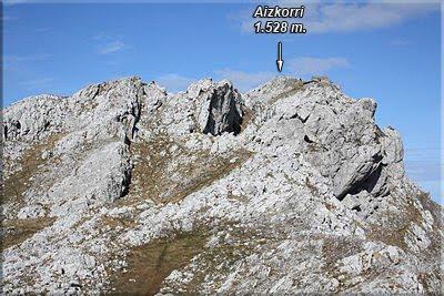 Vista de Aizkorri desde Aiztontor Altua