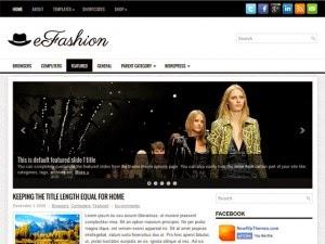 eFashion - Free Wordpress Theme