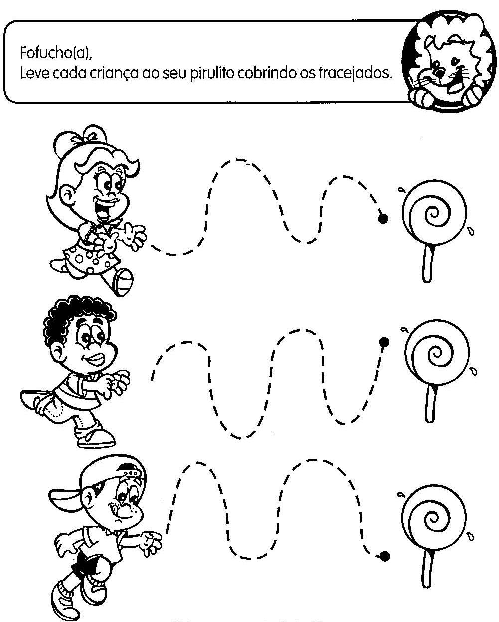 Muito Jardim da Tia Di♥: ATIVIDADES COM TRACEJADO PARA MATERNAL YD02