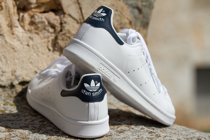 adidas stan smith blancas y azules
