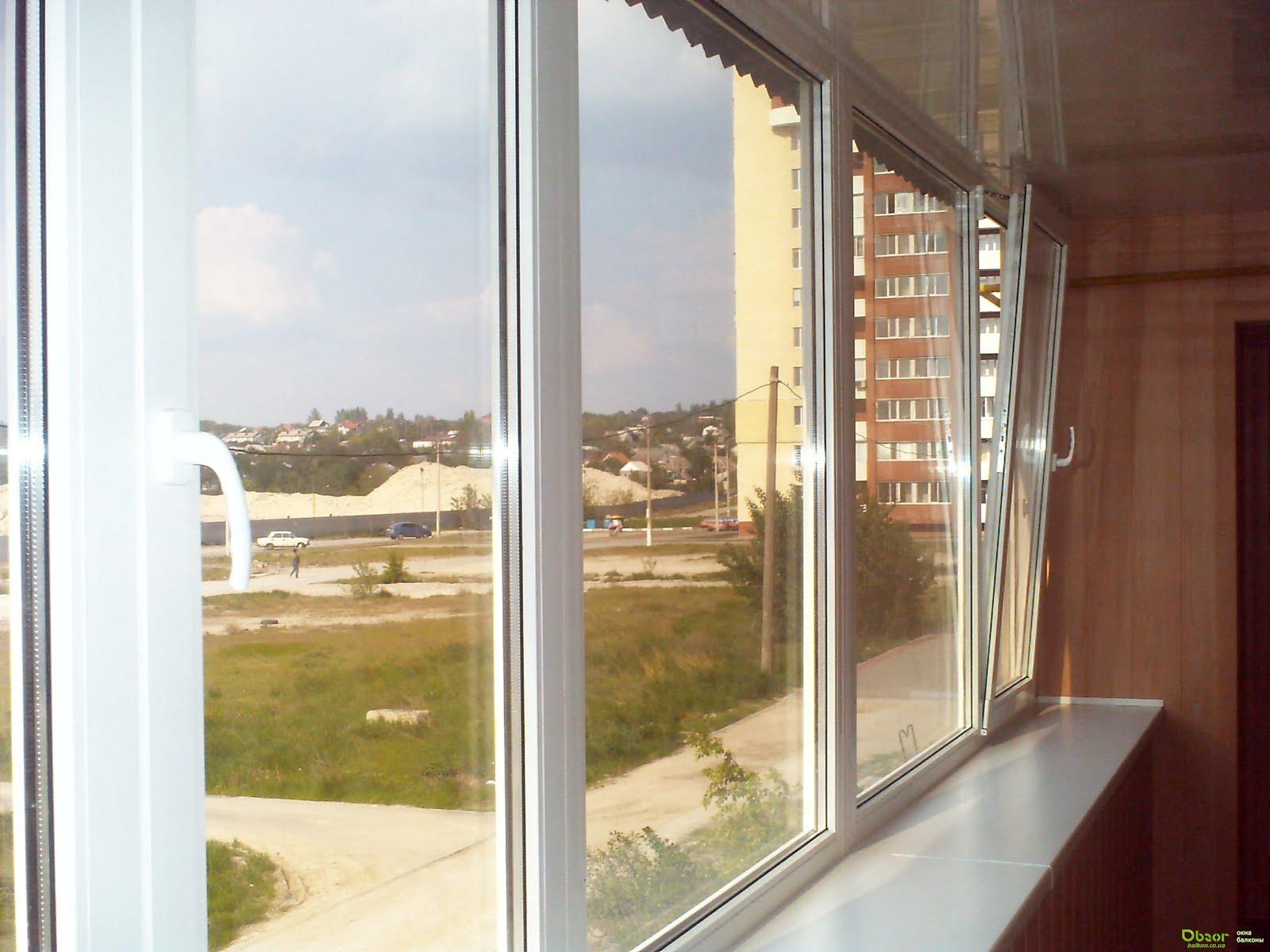 Монтаж окон на двойном балконе..