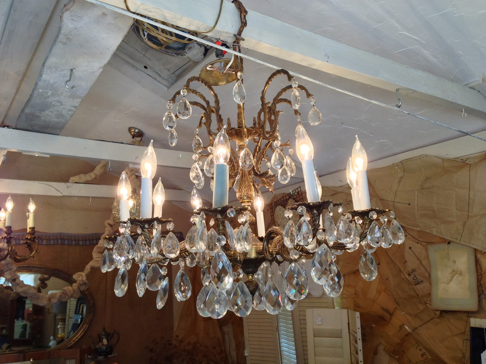 Red Shed French Antiques European Flea Market Tours Chandeliers