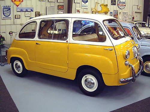 micro carros - microcars - Fiat 600 Multipla