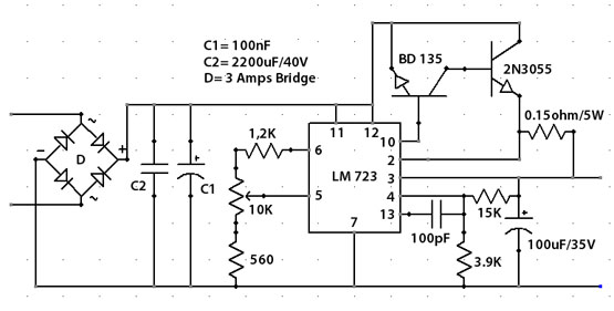 how to build a variable 12v power supply
