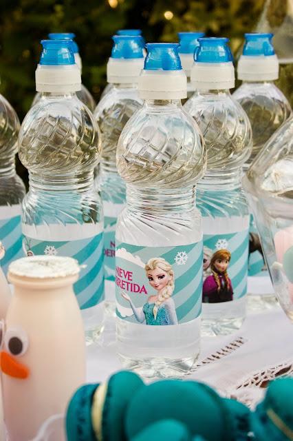 Diariodeco14: Candy bar Frozen por el cumple de la princesa - Etiquetas agua