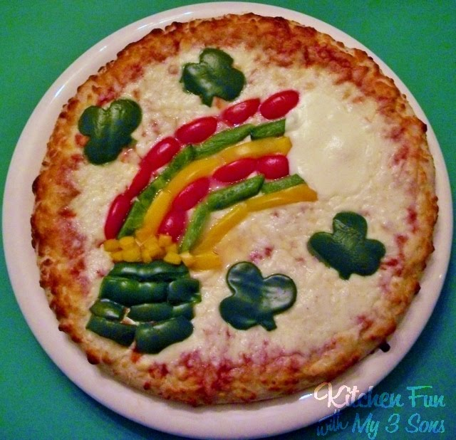 this lucky rainbow pizza is just something fun that we