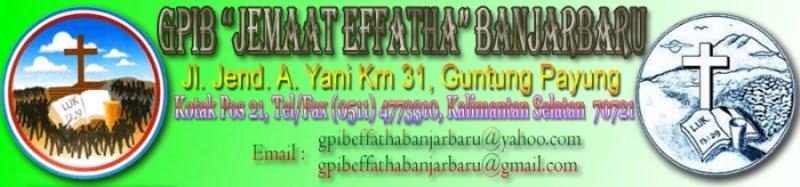"""GPIB """"Jemaat Effatha"""" Guntung Payung, Banjarbaru"""
