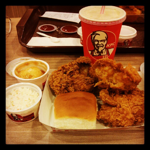 DINNER PLATE - KFC WANGSA MAJU & Every Moments Of My Life~: KFC - Dinner Plate