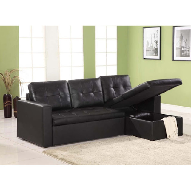 leather corner sofa bed