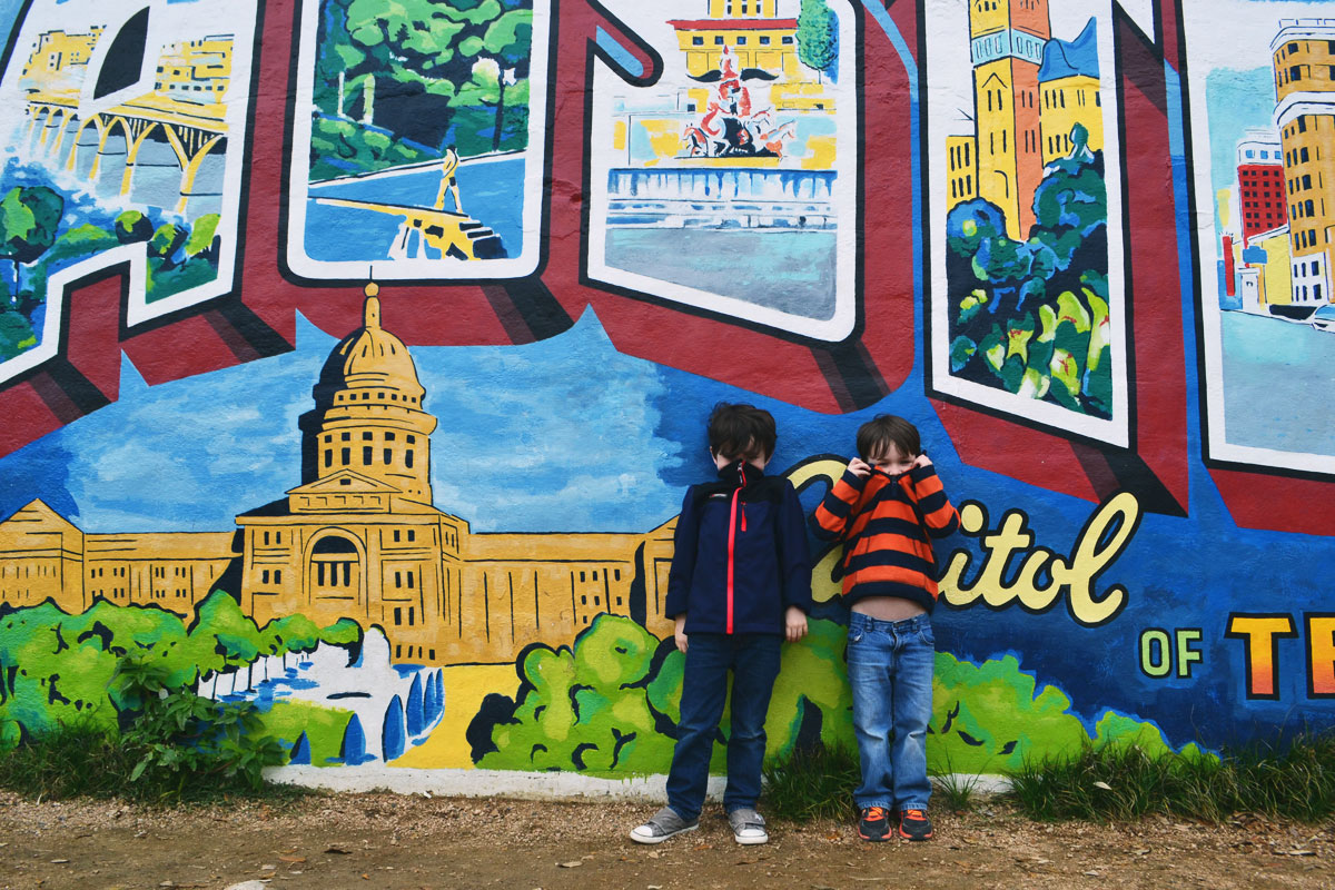 The new wittys tour texas bastrop austin for Austin mural tour