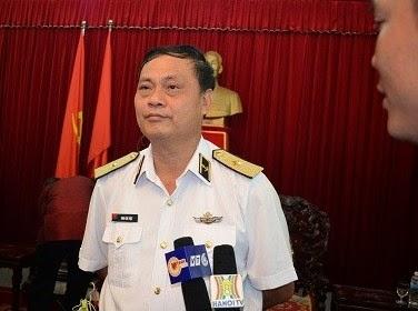 Ông Đinh Gia Thật - Chuẩn đô đốc, Bí thư Đảng ủy chính ủy Hải Quân. Ảnh: Nguyễn Vũ.