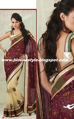 half and half saree blouse