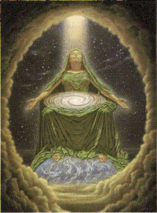 La Gran Diosa Cósmica Creadora de todos - Johfra Bosschart