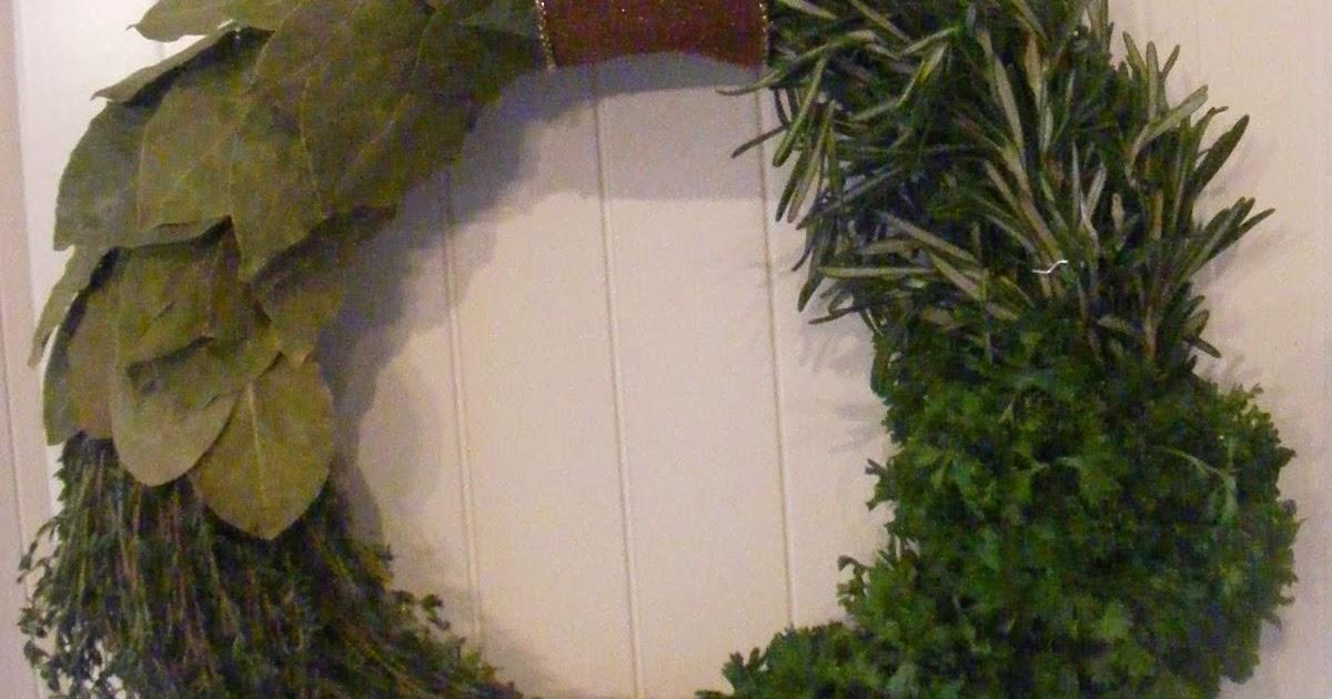 Comment faire une couronne de fine herbes comment fait - Comment faire une couronne de noel ...
