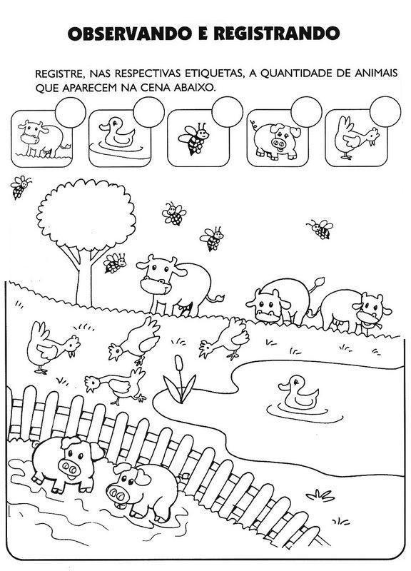 Tia Keila Educação Infantil Atividades Com O Tema Animais