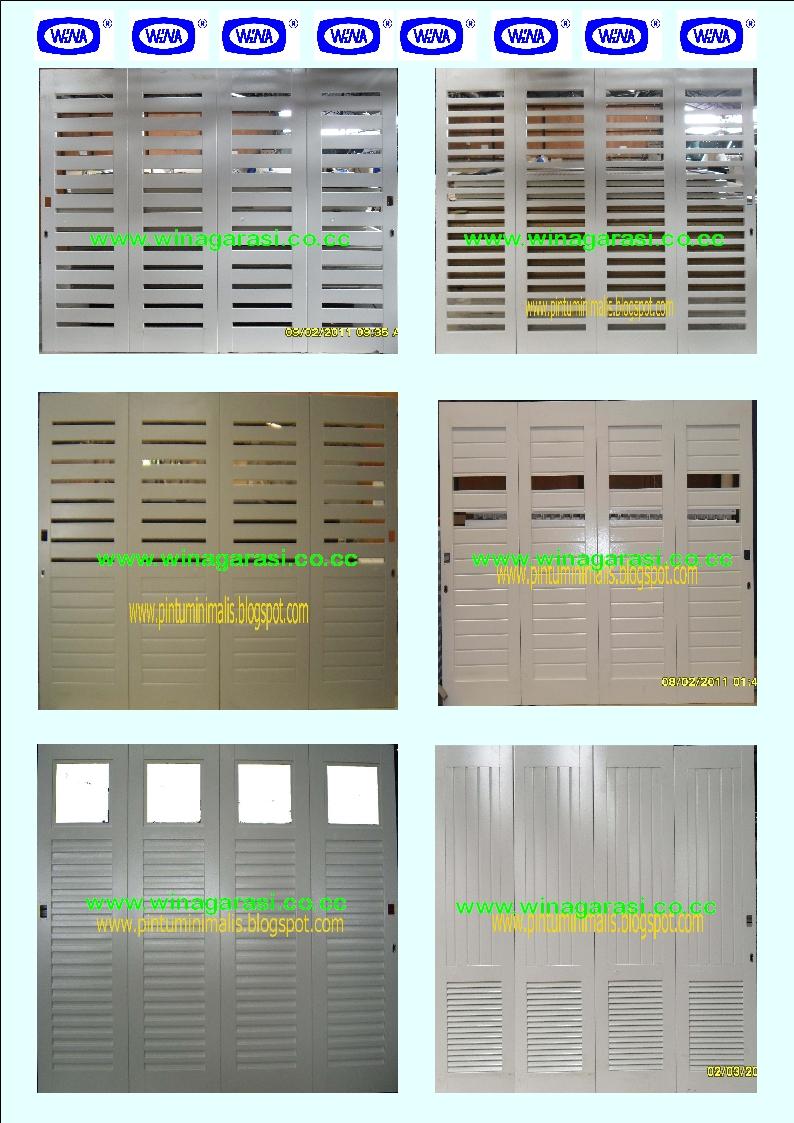 Jual Pintu Garasi Kayu dan Pintu Garasi Besi