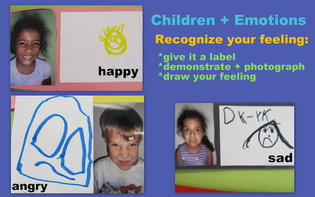 photo of: children and emotions art project, emotions in children's artwork, feelings for children in art