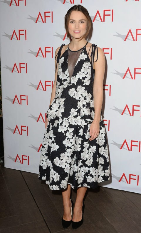 Keira Knightley's pregnant style in Erdem at the AFI Awards