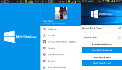 BBM Mod: Windows Style Theme Apk