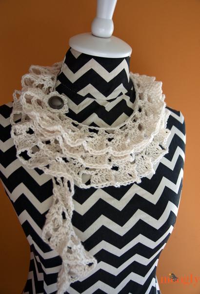 Knitting Pattern For Waterfall Scarf : Fiber Flux: Fabulous Ruffles! 16 Ruffly Crochet Patterns