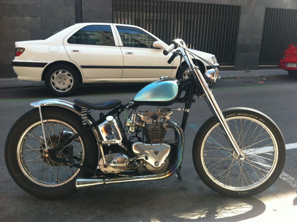Working Class Kustoms Denis 180 Pre Unit Triumph Is For Sale Too